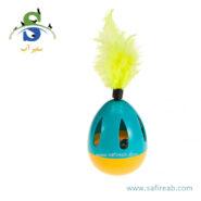 اسباب بازی تخم مرغ دورانی و تعادلی زنگوله دار فرپلاست (Ferplast Oval Ball) 1