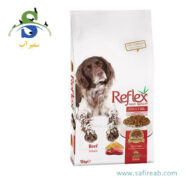 غذای خشک سگ بالغ با طعم گوشت گاو (۱۵ کیلوگرم) رفلکس (Reflex Adult Dog food Beef 15 kg)