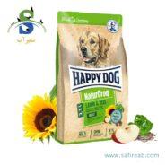 غذای خشک مخصوص سگ بالغ با طعم گوشت بره و برنج هپی داگ (Happy Dog NaturCroq Lamm & Reis