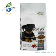 غذای خشک توله سگ با طعم گوشت بره و برنج (۱۵ کیلوگرم) رفلکس (Reflex Puppy Dog food Lamb & Rice 15 kg)