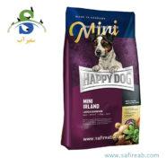 غذای خشک سوپر پرمیوم سگ بالغ نژاد کوچک حاوی گوشت خرگوش و ماهی هپی داگ (Happy Dog Mini Irland